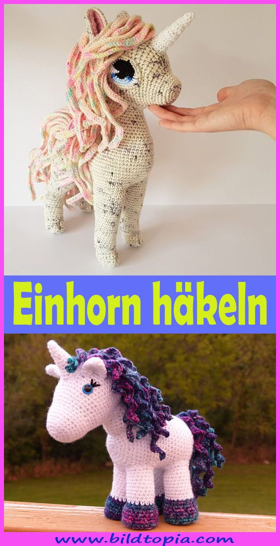 Häkelanleitung Kuschelschnuffelbande Einhorn Flöckchen , Amigurumi ... | 1100x564