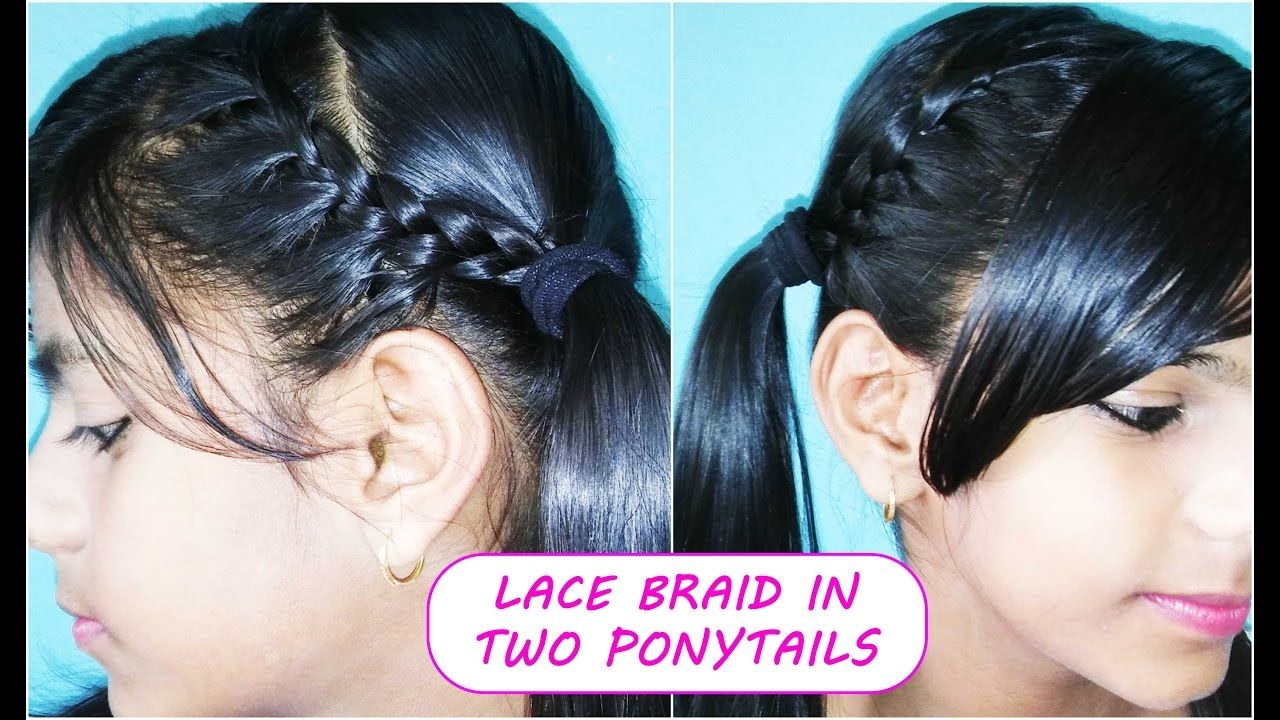 Two Ponytail Hairstyles Cool Lace Braid In Two Ponytails  Creative Little Style  Pinterest