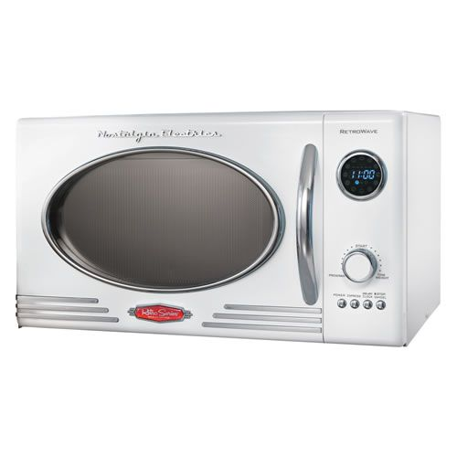Nostalgia Electrics White Retro Microwave Other Colors Available