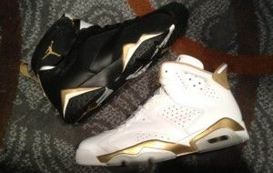 hot sales 9b990 dfca4 Air Jordan Retro 6 & 7 – Golden Moments Pack | Jordan ...
