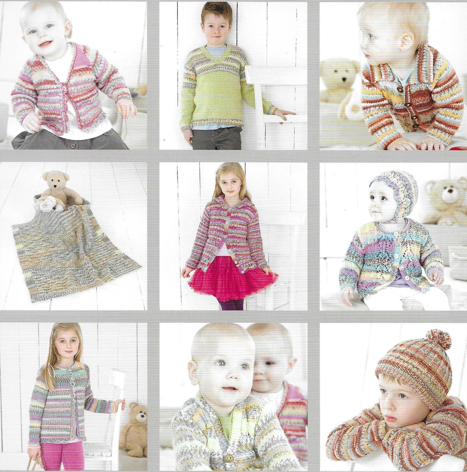 b54a664d1f94 Sirdar Book 469 Baby Crofter 8. 15 hand knit designs for babies ...