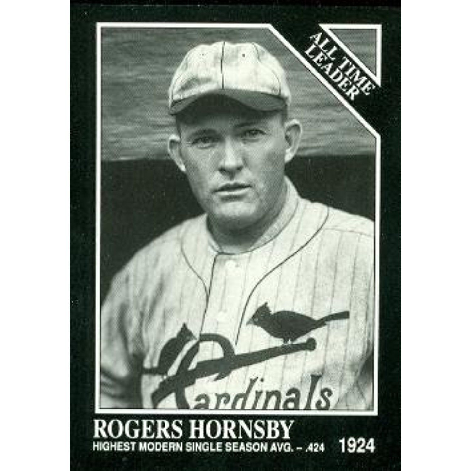 Rogers Hornsby Baseball Card St Louis Cardinals 1991 Sporting