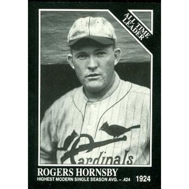 Rogers Hornsby Baseball Card (St. Louis Cardinals) 1991