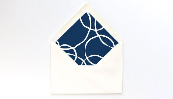 Navy Blue Circles Envelope Liner Template   A7 Euro Flap   DIY - a7 envelope liner template