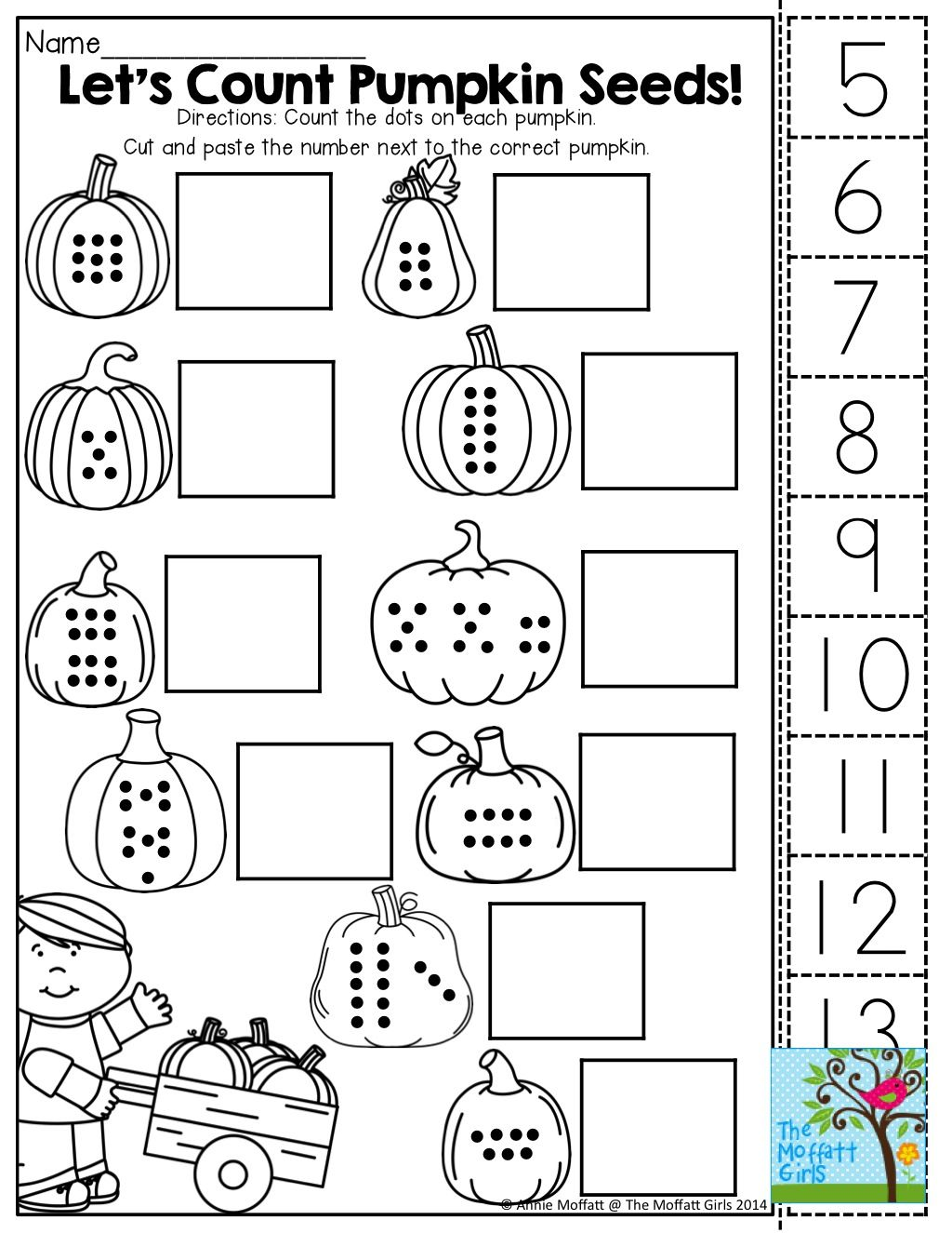 count cut and paste tons of fun printables october pinterest count math and kindergarten. Black Bedroom Furniture Sets. Home Design Ideas