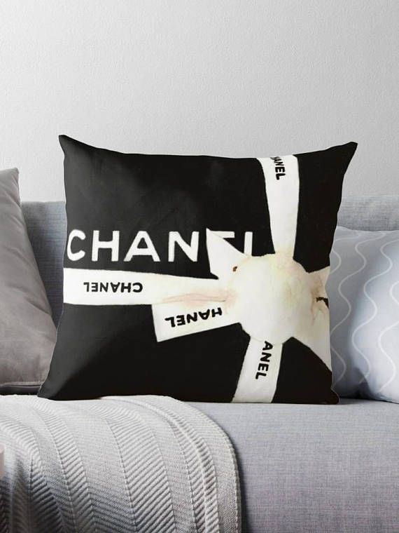 #FashionHomeDecor #ChanelAccessory  Black Chanel Pillow Posh Pillow Cover Decorative Pillow