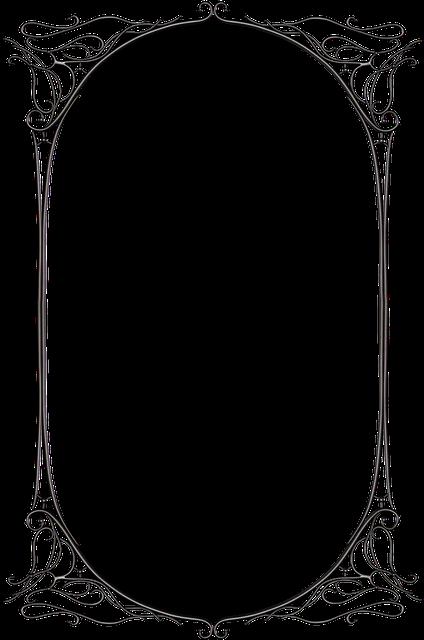 Free Image On Pixabay Dark Gothic Fantasy Black Metal Art Nouveau Pattern Frame Border Design Page Borders Design
