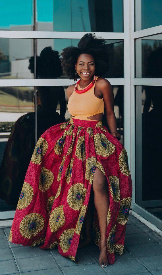 Ankara Skirt African Clothing African skirt African Print Maxi Skirt African Fashion Women Cl... #afrikanischerdruck