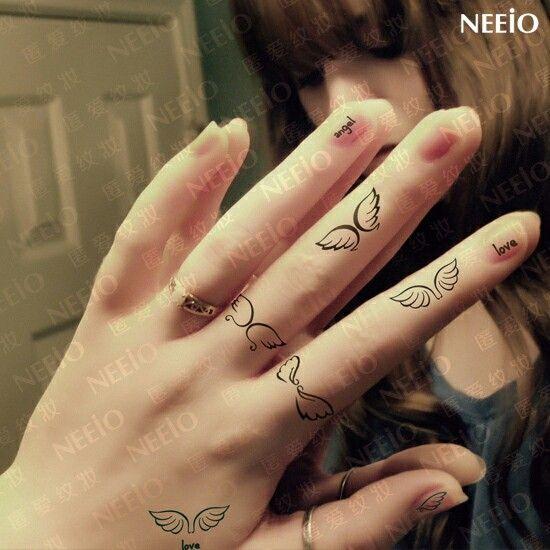 Anillos Tatuajes Pequenos Tatuajes De Alas Tatuajes De Maquillaje