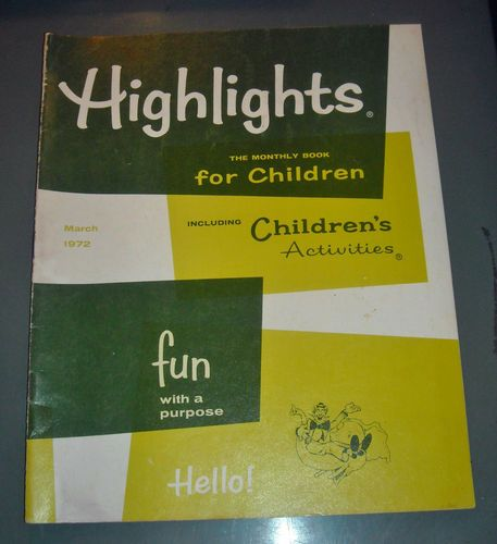Vintage March 1972 Highlights Monthly Book For Children Fun With A Purpose $1.99