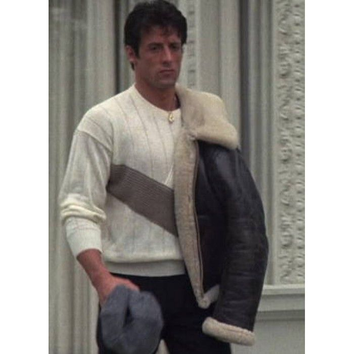 Bomber Style Rocky Balboa Real Leather Faux