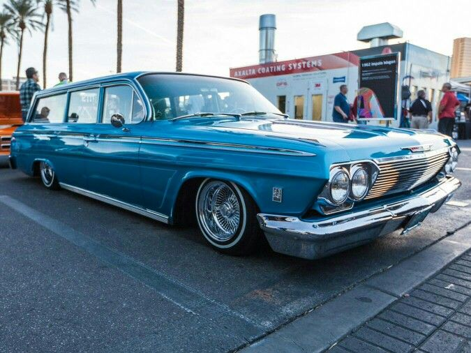 1962 Chevrolet Impala wagon lowrider. Get our free app and