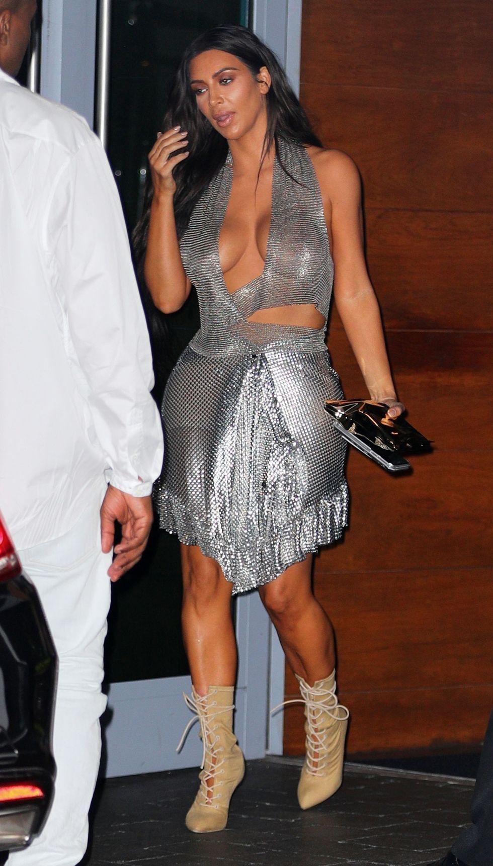 c4a228962c Kim Kardashian Rocks a Gucci Pantsuit Without a Top in L.A. ...