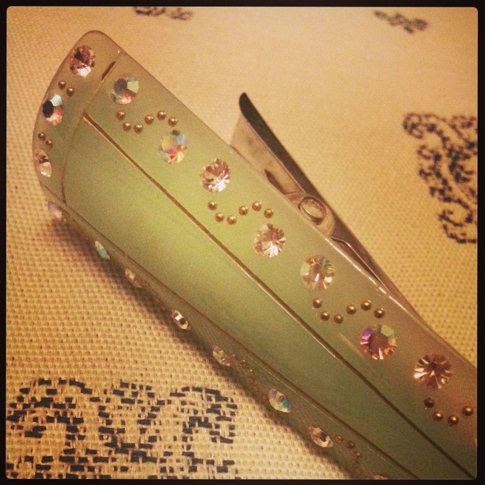 Gorgerous rhinestones plastic barette pin clip claw stick clamp HIGH quality