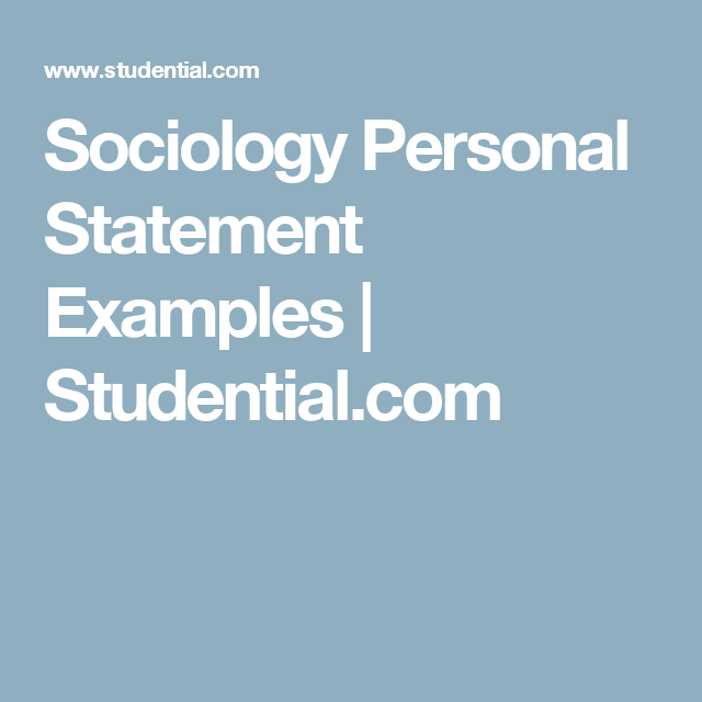 psychology personal statement studential
