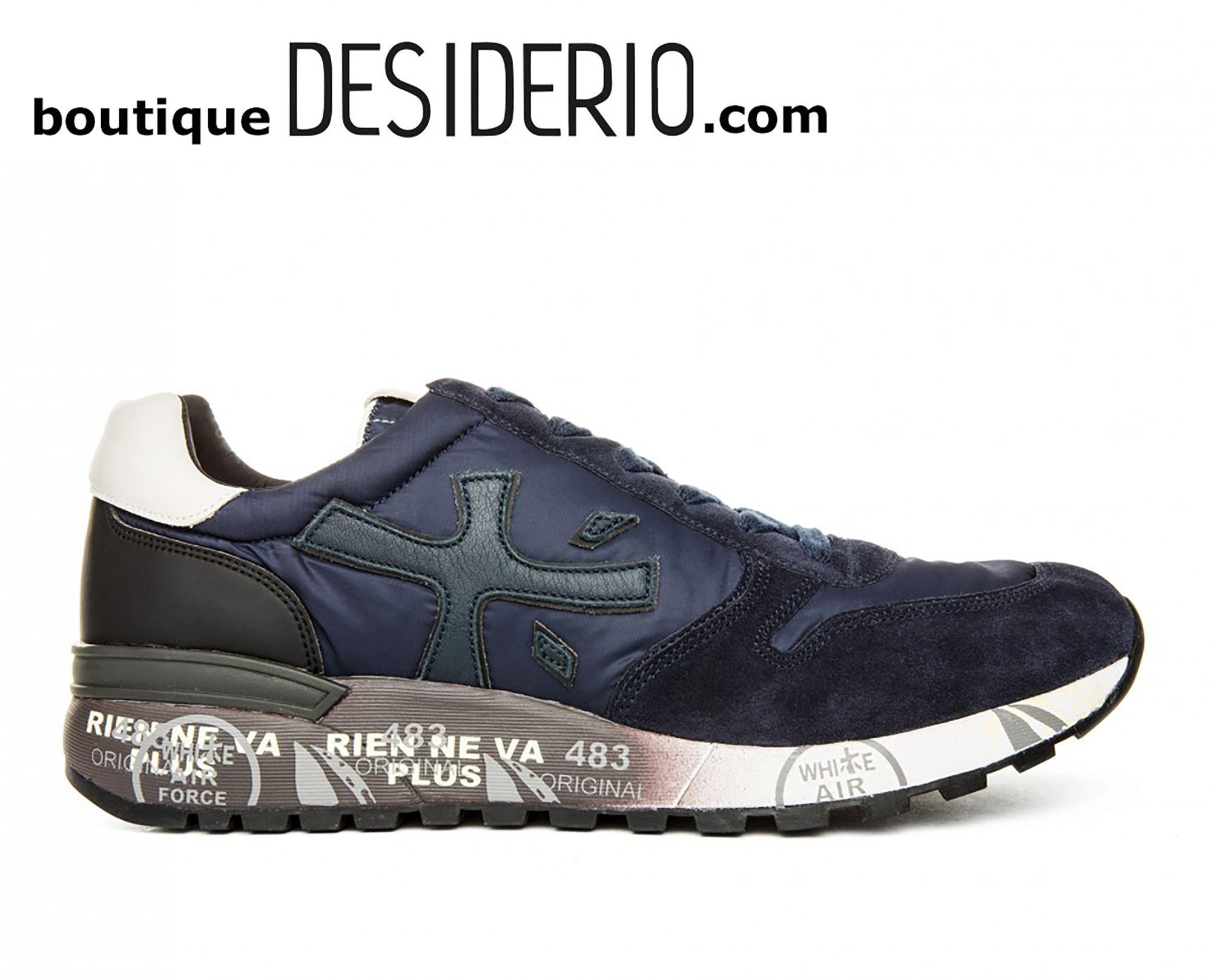 DESIDERIO boutique  PREMIATA MICK 2683 sneaker uomo camoscio blu scuro  autunno inverno 2017 2018 www