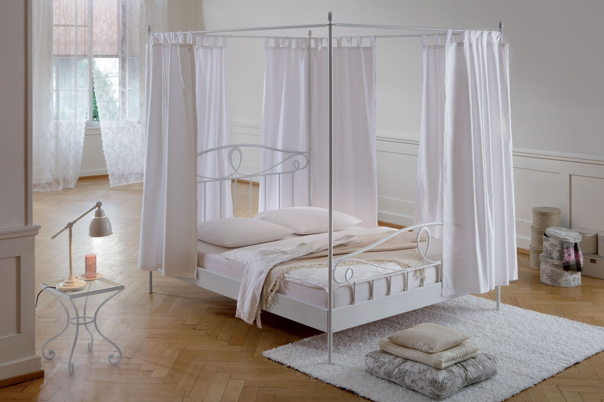 Picture of Remarkable New Canopy Bed Curtains Decorating