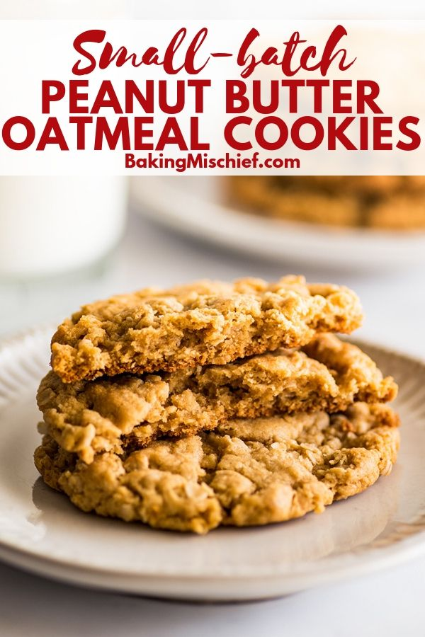 These AMAZING Smallbatch Peanut Butter Oatmeal Cookies are rich and peanut buttery bendy and chewy and basically perfect