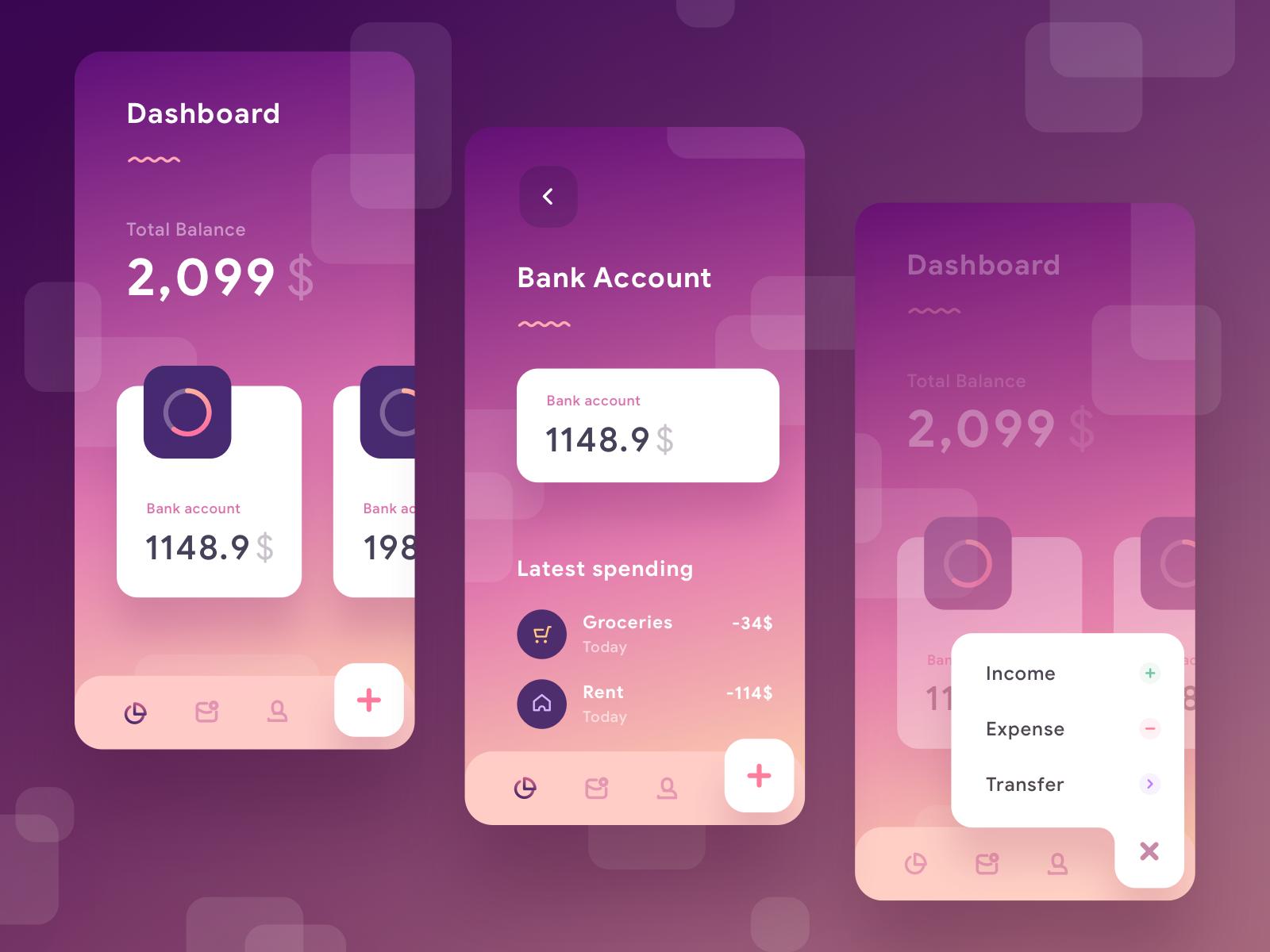 Wallet App Exploration Ios app design, App, Android design