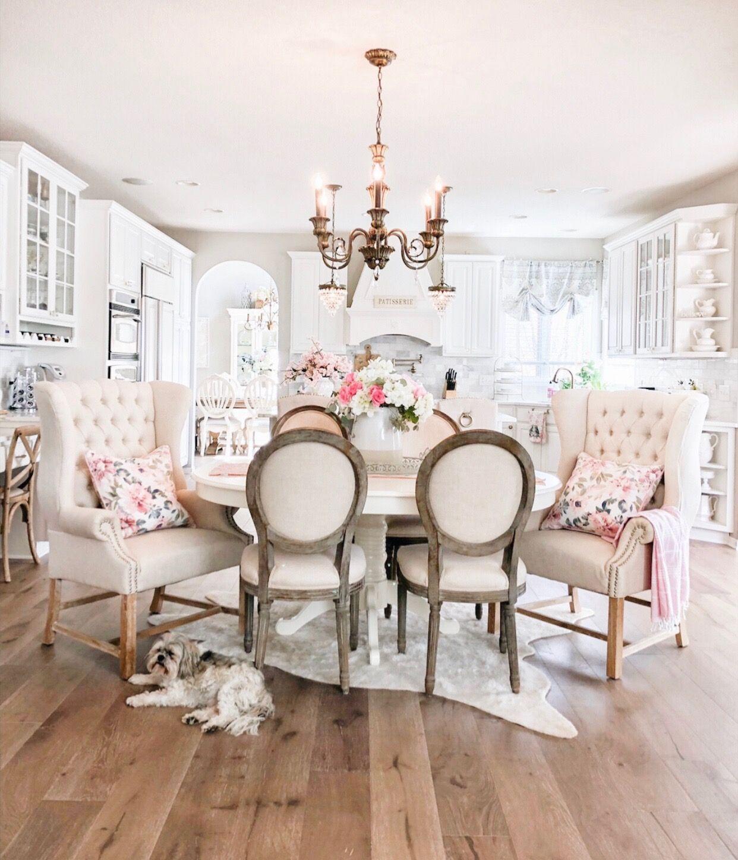 Elegant French Farmhouse Spring to Summer Kitchen ...