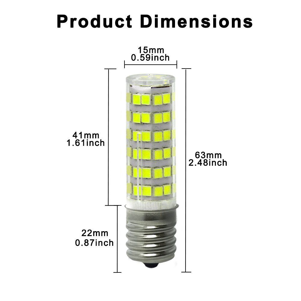 Diaomao Ceramic E17 Led Bulb For Microwave Oven Appliance 5w 50w Halogen Bulb Equivalent Daylight White 6000k I ˆpack Of Led Bulb Halogen Bulbs Oven Appliance
