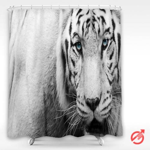 #Tiger #White #Tiger #face #Blue #eyes #Shower #Curtain #showercurtain #decorative #bathroom #creative #homedecor #decor #present #giftidea #birthday #men #women #kids #newhot #lowprice #cover #favorite #custom #friend