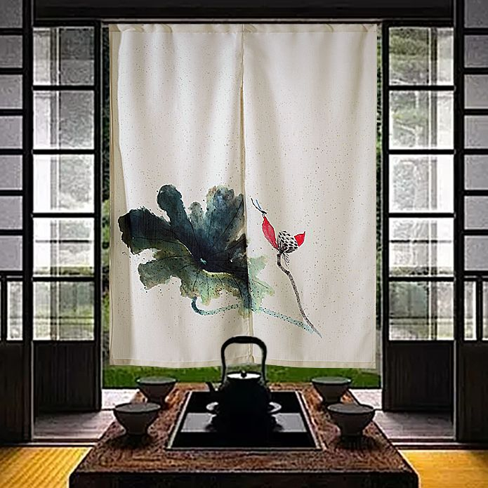 Nice Curtains China Chinese Ink Painting Door Curtain Japanese
