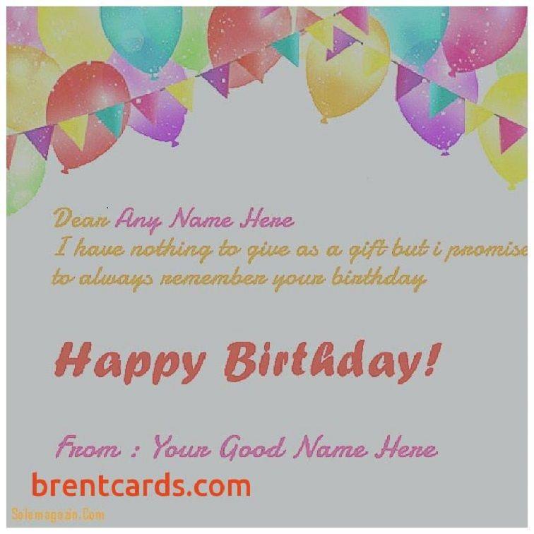 Happy Birthday Invitation Card With Name Edit Happy