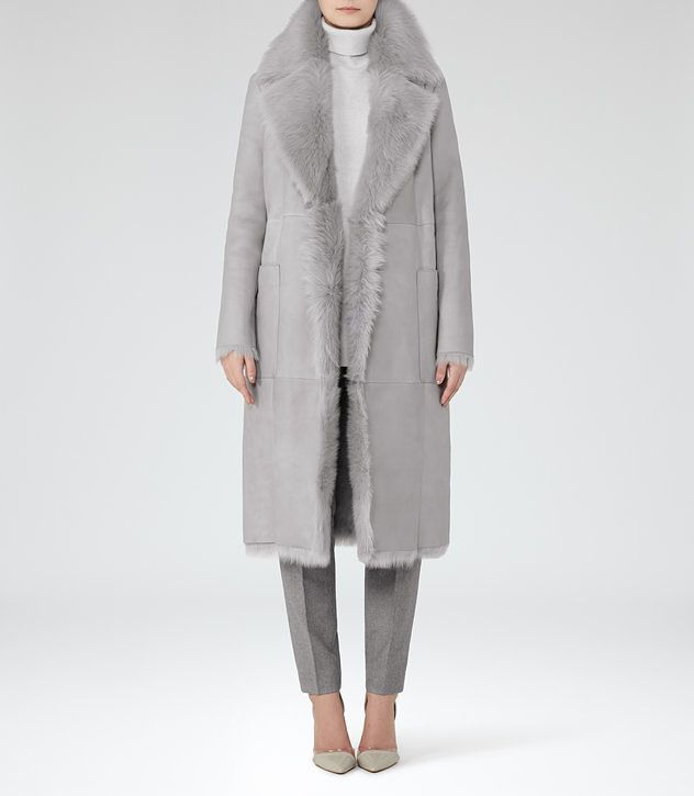 Lennox | Coats, Grey and Shearling coat