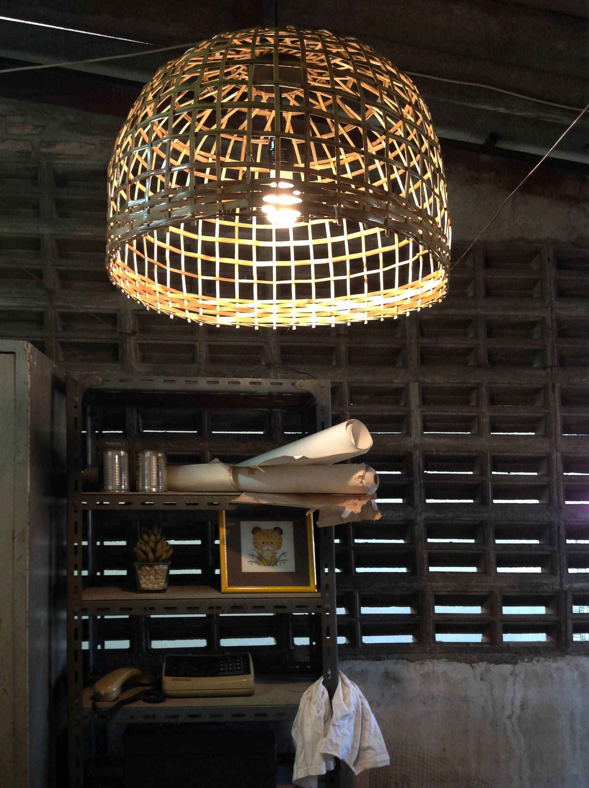 Large Dining Room Pendant Lighting Bamboo Basket Wicker Pendant - Large-dining-room-light-fixtures
