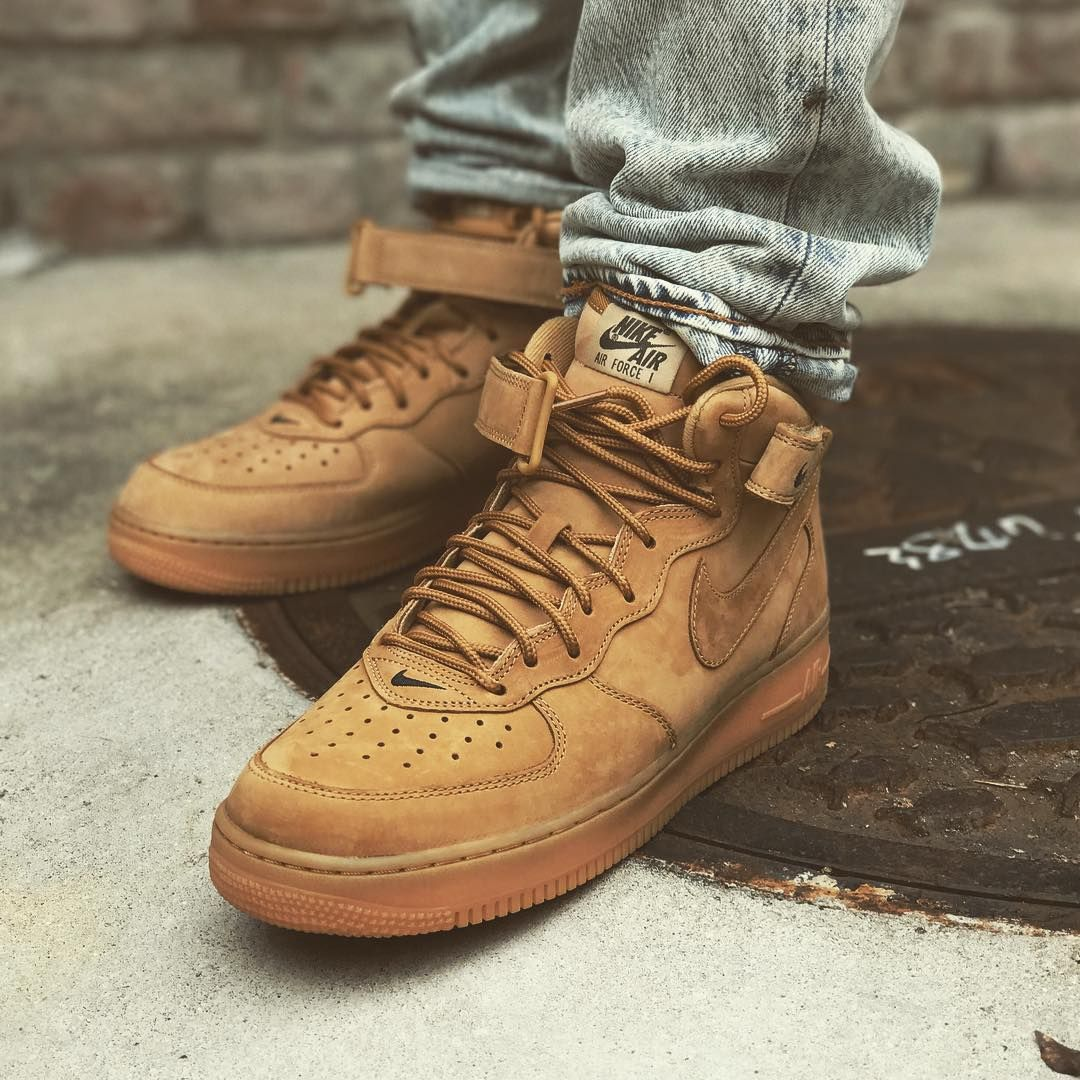 sports shoes 097fa e089b Nike Air Force 1 Mid 07 PRM QS (715889-200) Wheat Flex New