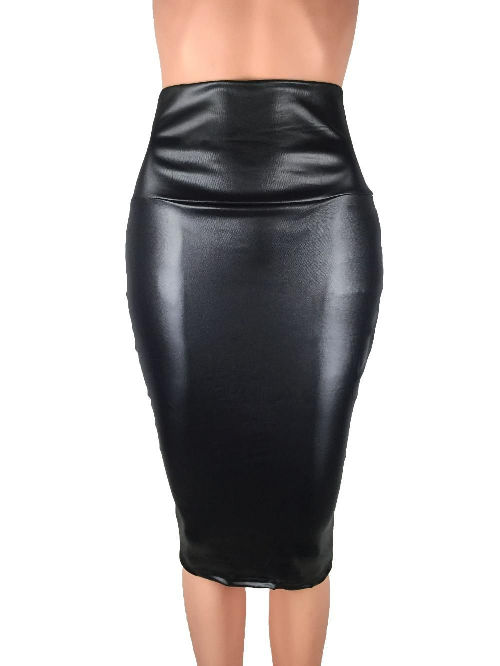 ede477184bc Bohocotol 2018 pencil faux leather skirt women casual plus size clothing  chic elegant sexy fitness black midi pencil skirts. Yesterday s price  US   9.88 ...
