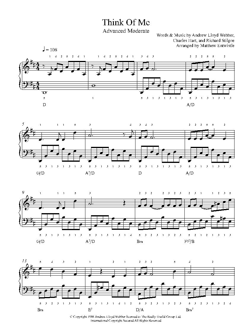 think of me by andrew lloyd webber piano sheet music advanced level playground advanced. Black Bedroom Furniture Sets. Home Design Ideas