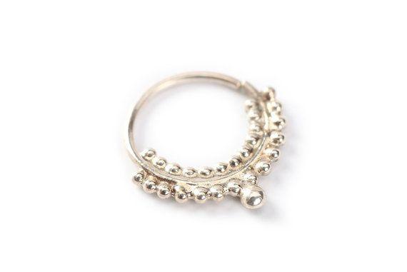 Indische Prinzessin  Silber Nase Ring  925  Nase von studiolil, $60.00