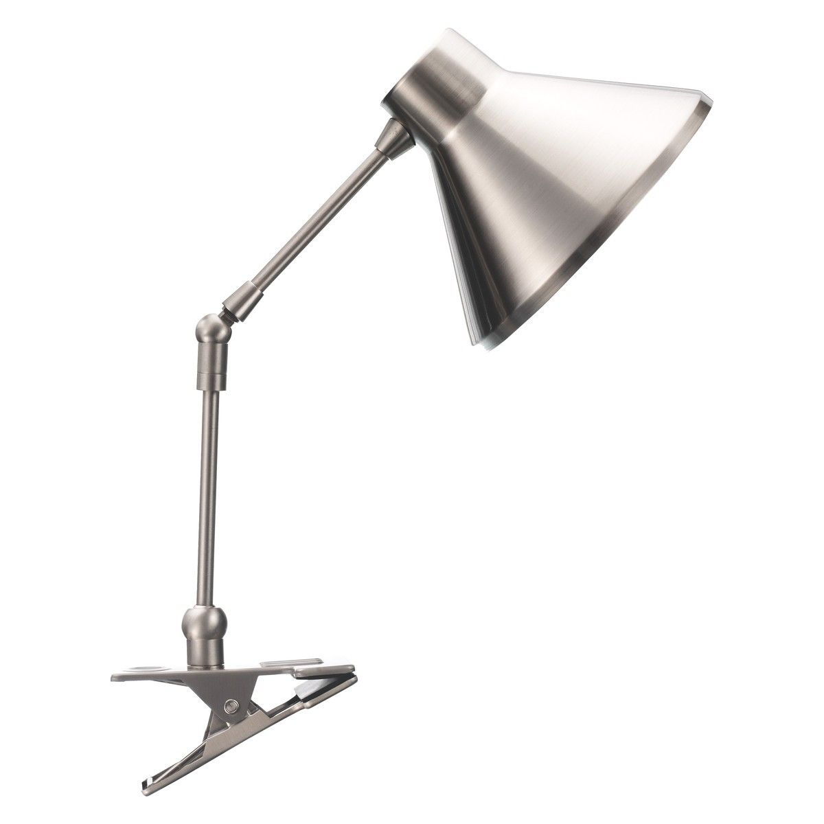 Superieur BOBBY Silver Brushed Metal Clamp Desk Lamp