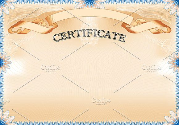 Vintage Certificate with ribbon by AK Design on @creativemarket
