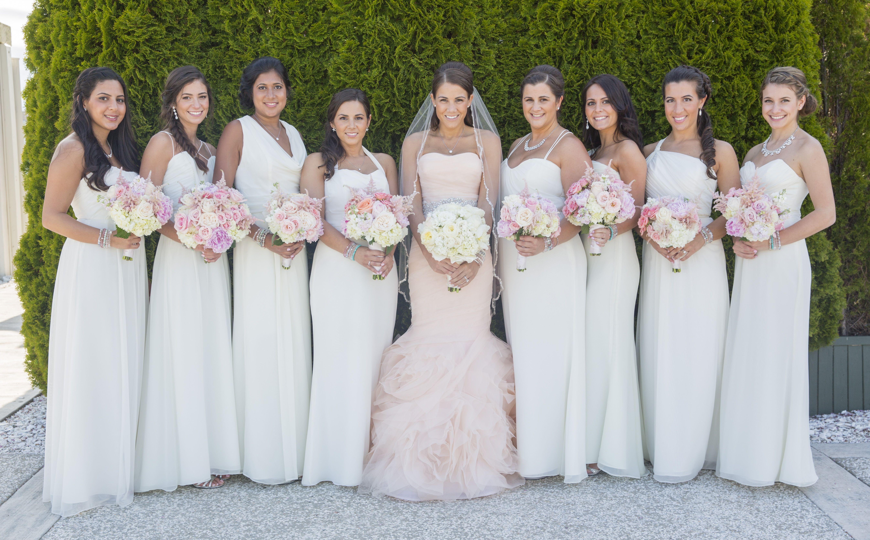 Pin By Amanda Seebeck On Wedding Blush Bridal Gowns Ivory Bridesmaid Dresses Blush Wedding Dress