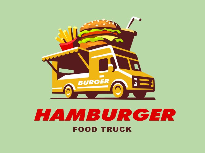 Food Truck Burger Food Truck Design Logo Food Truck Truck Design