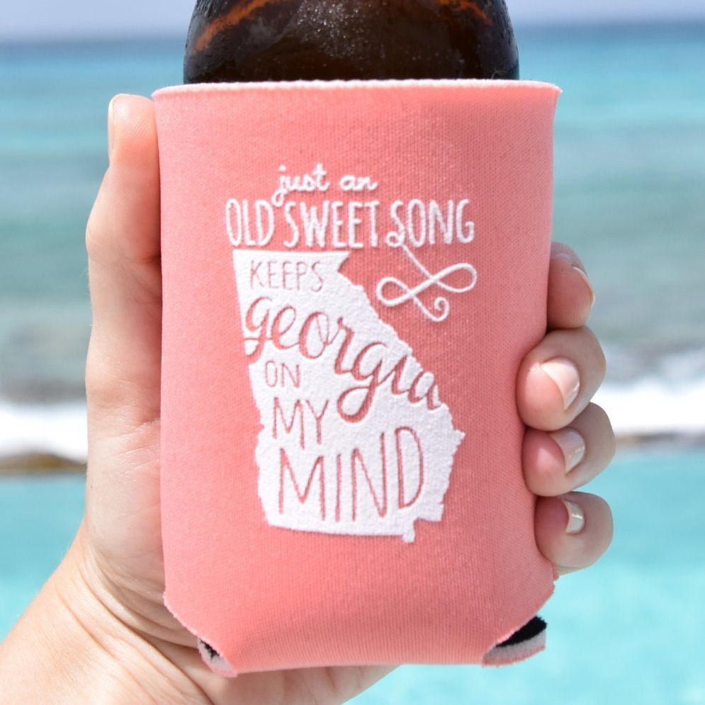 Personalized Georgia Koozie Wedding Favors (30+ color options ...