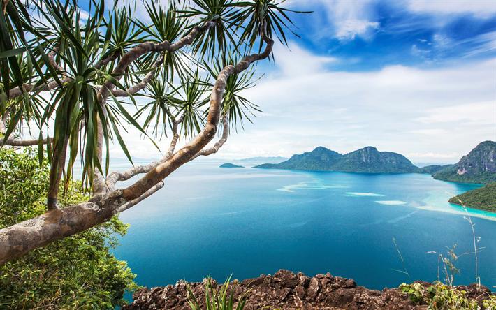 Scarica Sfondi Malesia 4k Montagna Oceano Estivo Isole Asia