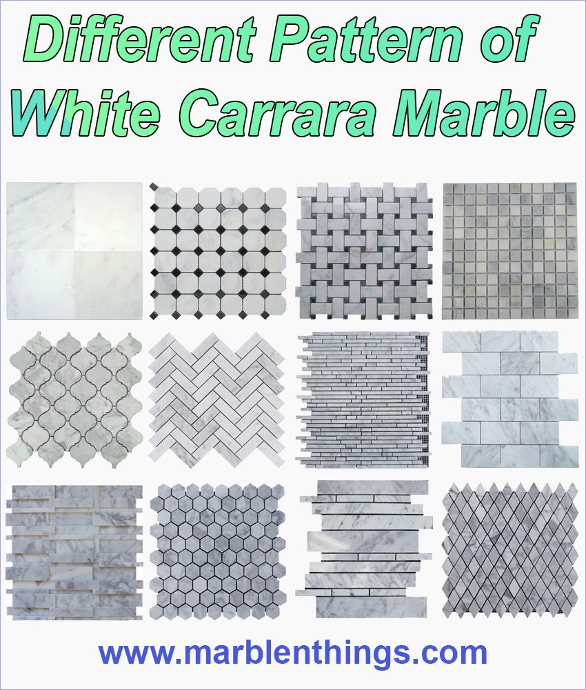 Types Of Floor Tiles For Kitchen: Different Type Of White Carrara Marble Mosaic Tile For