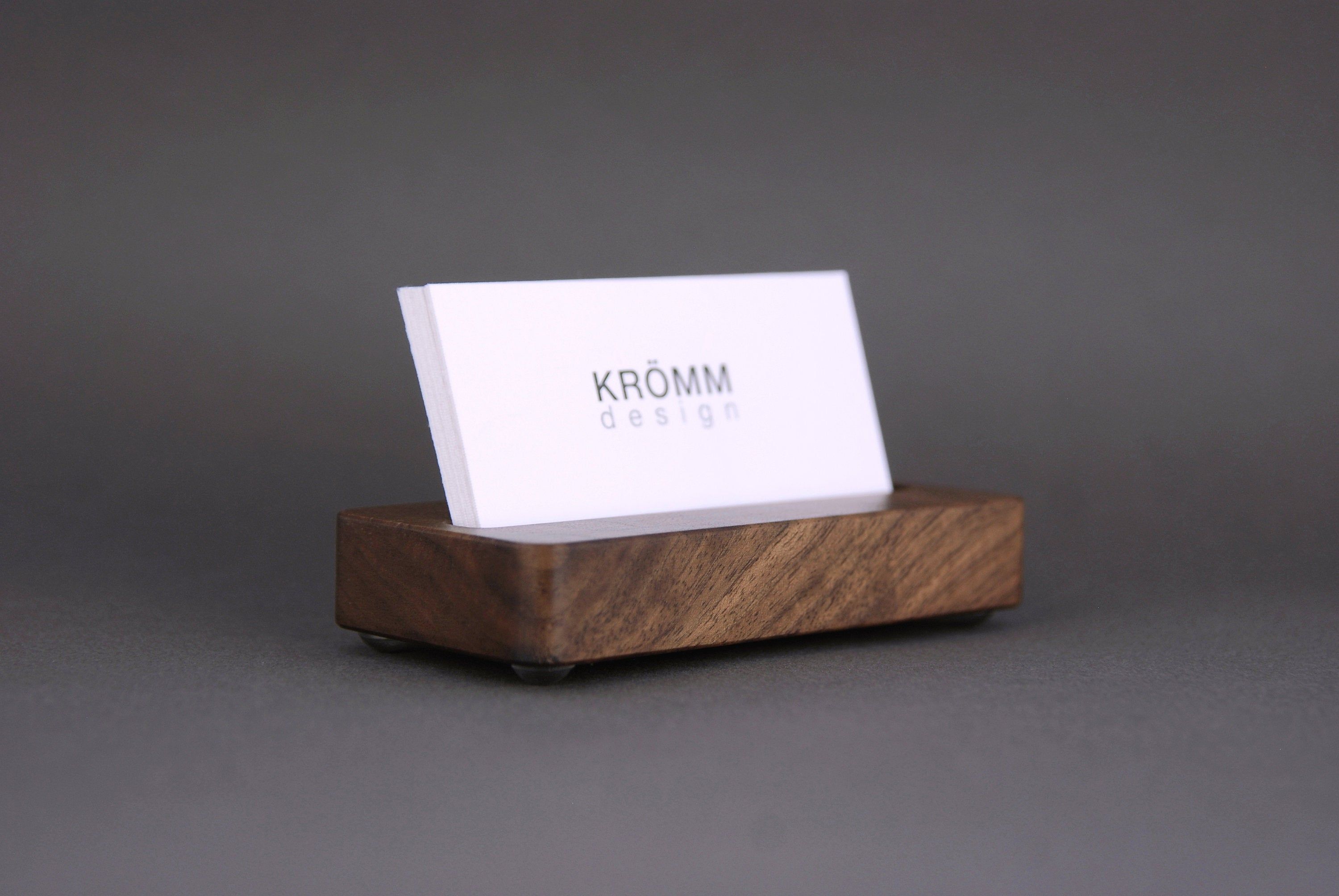 Wood Single Business Card Stand For Horizontal Landscape Cards Walnut Wood Moo Card Stand Business Card Stand Wooden Business Card Round Business Cards