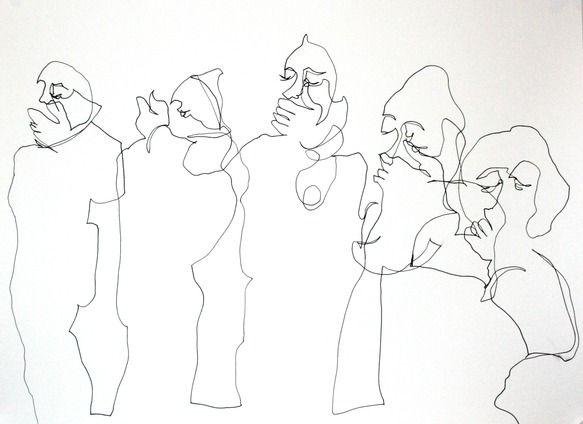 Untitled (Jaishri Abichandani) Single-line and drawn blind