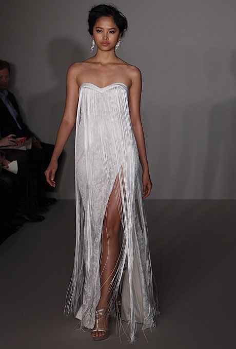 Wedding Dress Trend: High Slits | Rehearsal dinners, Engagements ...