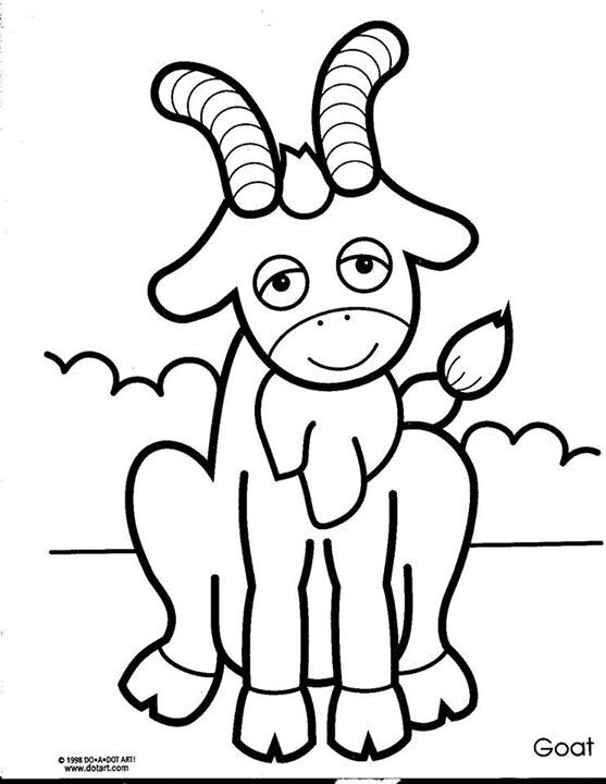 goats goat coloring page