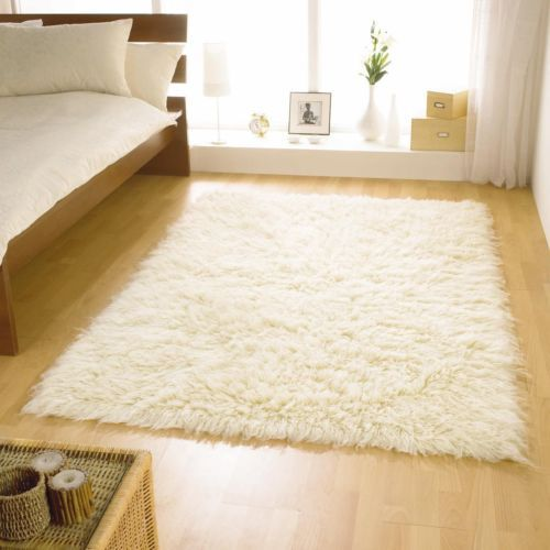 Small To Extra Large Cream Ivory 5cm High Pile Flokati Gy Rugs 100 Wool