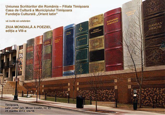 Ziua Mondială a Poeziei, la Lugoj şi Timişoara