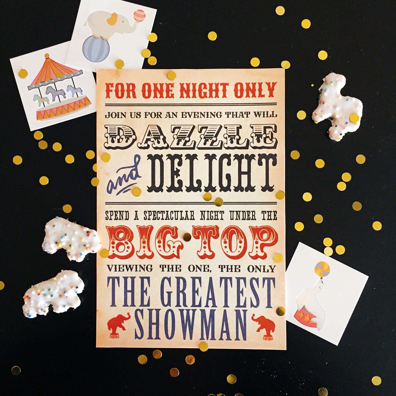 The Greatest Showman Movie Night Party Design Organize Party Movie Night Party Movie Party Invitations Showman Movie