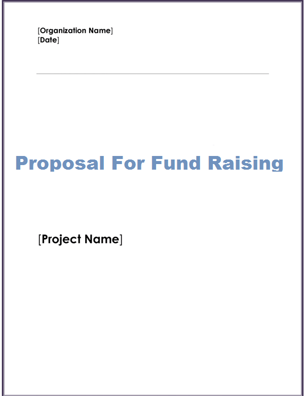 Get Fund Raising Proposal Template  Microsoft Office Samples And