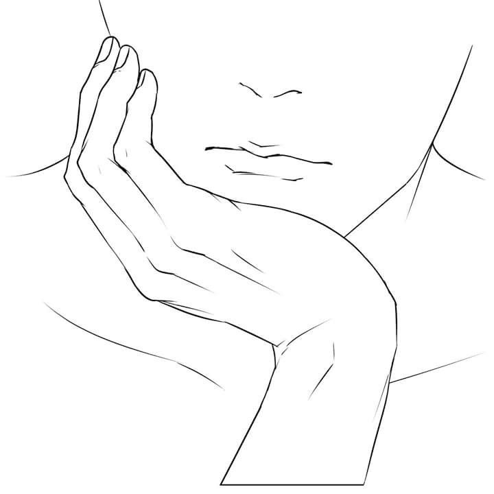 Chin On Hand Close Up Reference Art Reference Poses Line Art Drawings Drawing Reference Poses